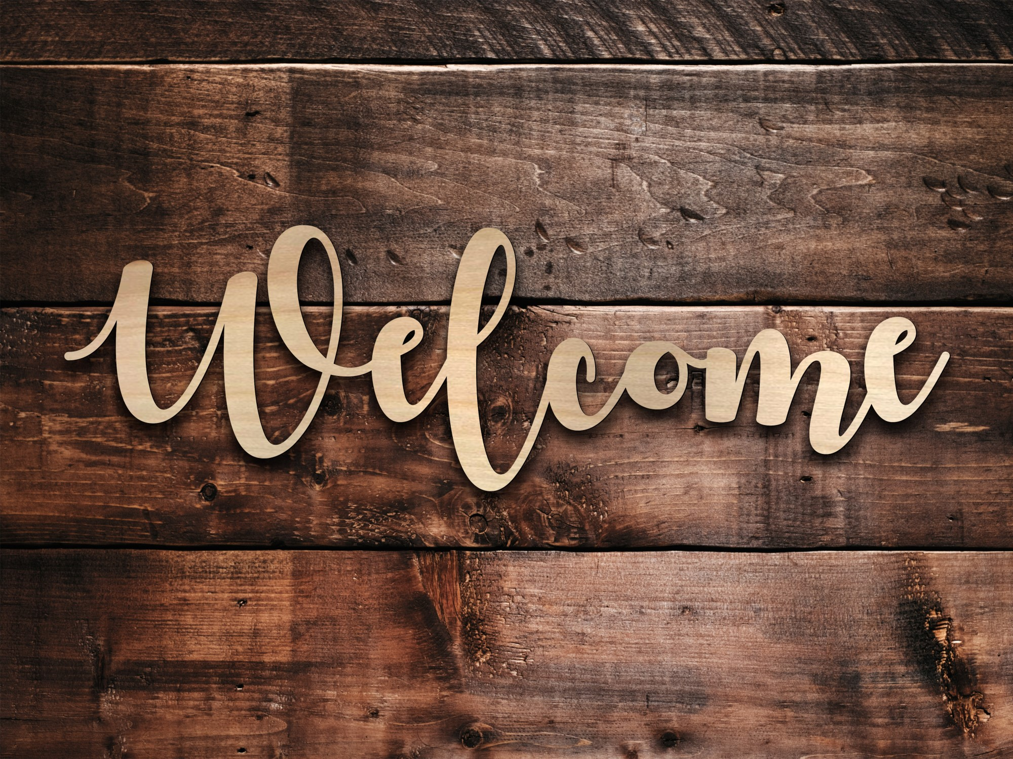 Welcome Wood Sign - Personalized by Kate