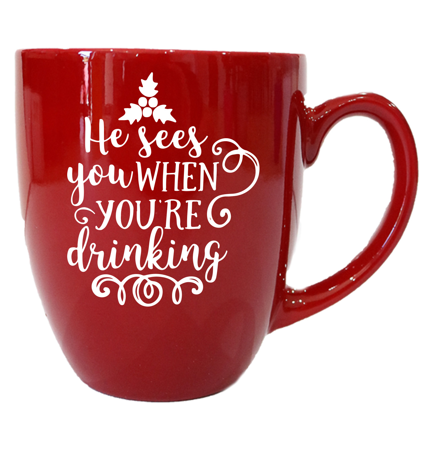 He Sees You When You Re Drinking Coffee Mug Personalized By Kate
