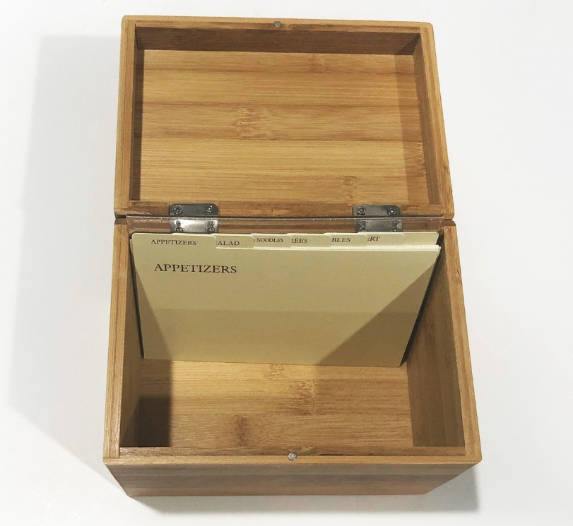 Personalized Recipe Box W Silverware Design