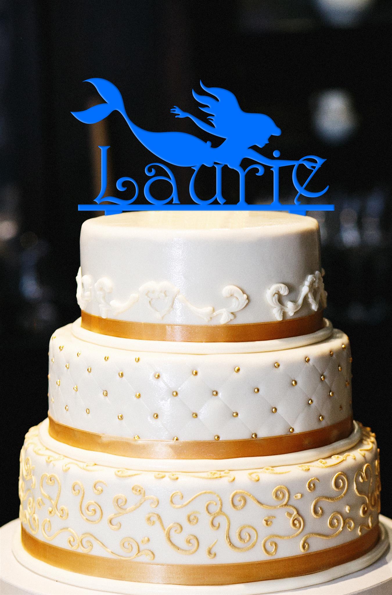 Marvelous Mermaid Birthday Cake Topper Personalized By Kate Personalised Birthday Cards Veneteletsinfo