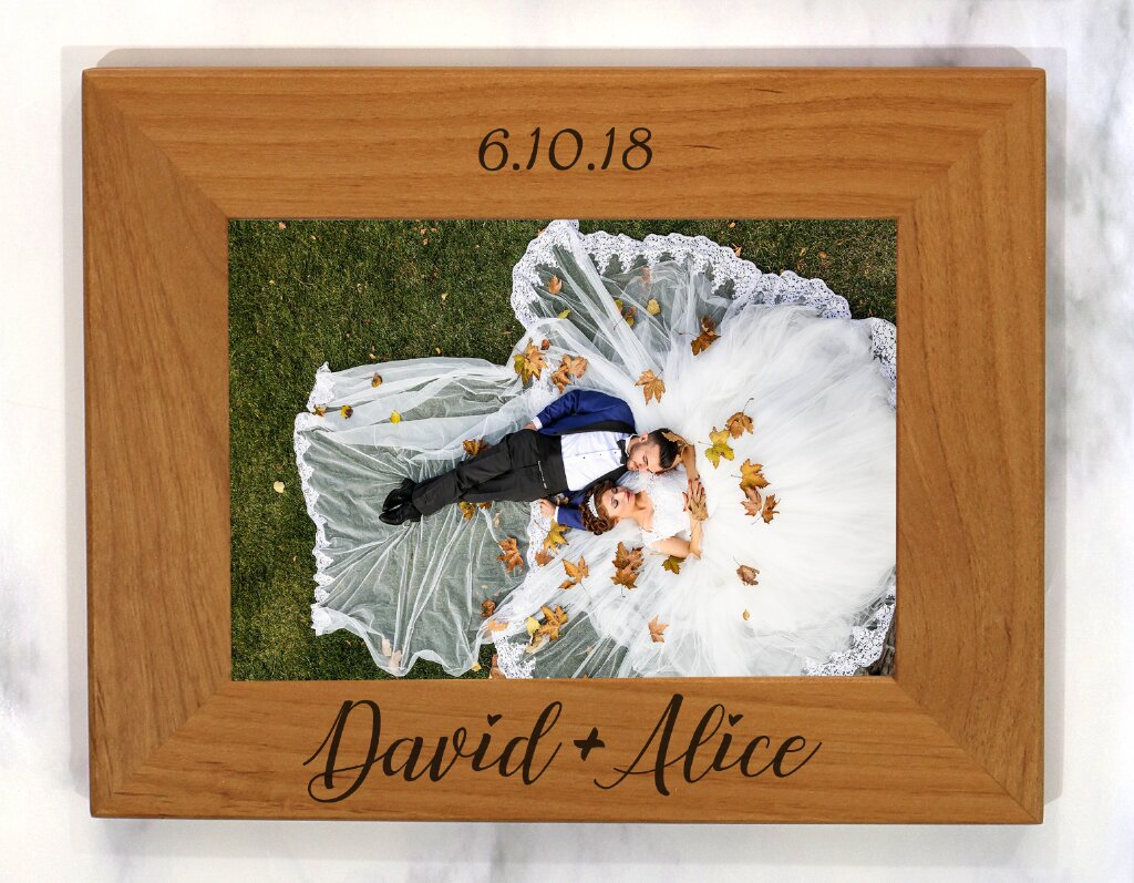 Husband Wife Wedding Picture Frame Personalized By Kate
