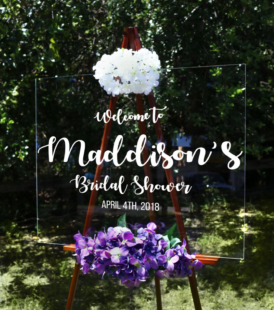 Welcome To Bridal Shower Sign In Script