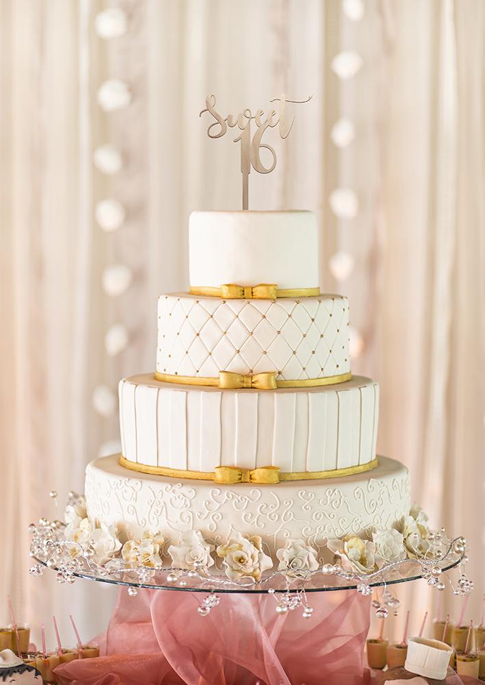 Sweet 16 Wood Birthday Cake Topper