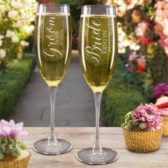 Personalized Champagne Glasses