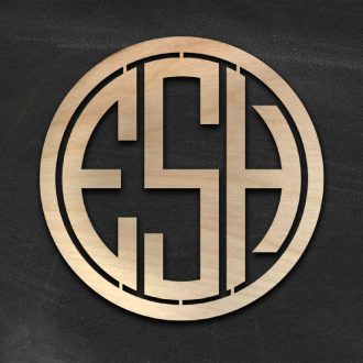 Wood Monogram Signs