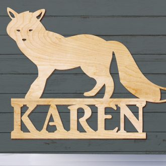 Wood Animal Signs