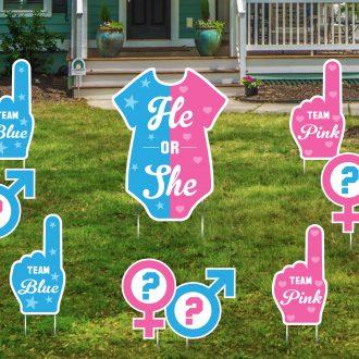 Gender Reveal Yard Signs