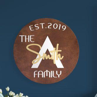 Family Circular Wood Signs