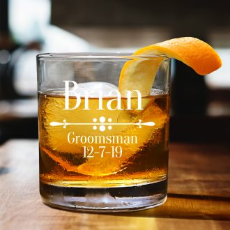 Personalized Best Man Whiskey Glass