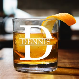 Name Inside Monogrammed Whiskey Glass