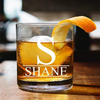 Monogrammed Surname Whiskey Glass