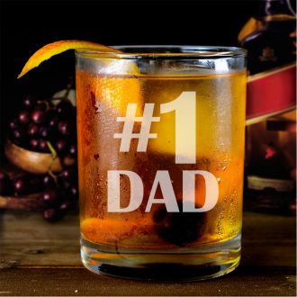 #1 Dad Whiskey Glass