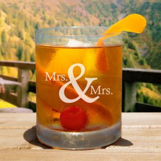 Mrs. & Mrs. Serif Font Whiskey Glass