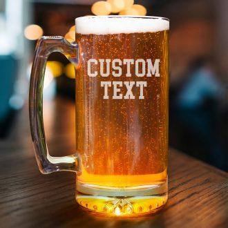 Simple Custom Text Beer Mug