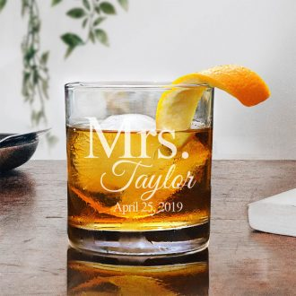 Personalized Mrs. Whiskey Glass