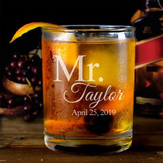 Personalized Mr. Whiskey Glass