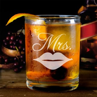 Mrs. with Lips Whiskey Glass