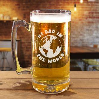 #1 Dad in the World Beer Mug