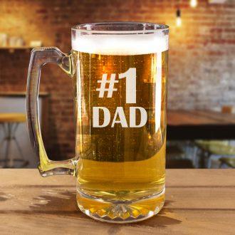 #1 Dad Beer Mug