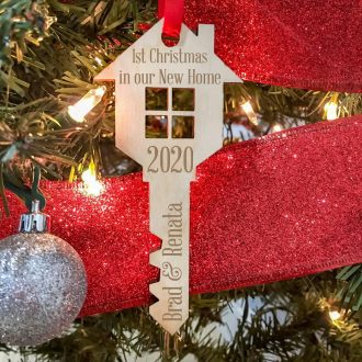 Personalized Wooden Key Ornaments