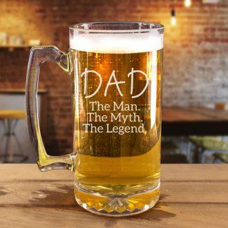 Dad, The Man, The Myth, The Legend Beer Mug